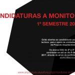 Candidaturas a monitores lectivos para o 1º semestre 2017-18